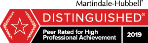 Martindale-Hubble Distinguished Peer Rated