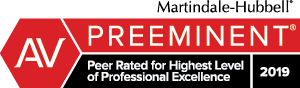 Martindale-Hubbell Preeminent AV Peer Review Rated